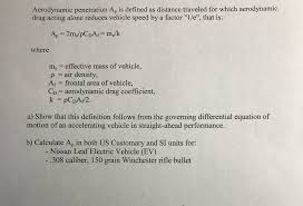traveled definition images Solved aerodynamic penetration ap is defined as distance png