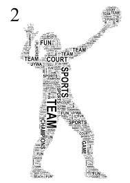 volleyball player personalised sports word art print free uk p u0026p