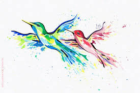 commission watercolor hummingbird tattoo by tailycaos on deviantart