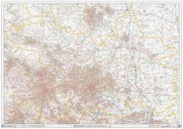 Leeds England Map by Leeds Ls Postcode Wall Map Xyz Maps