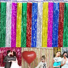 backyards wedding decorations background foil party door curtain