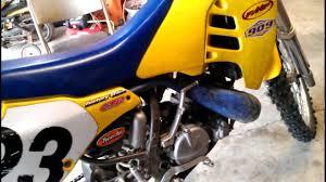 suzuki rm250 start with new piston youtube