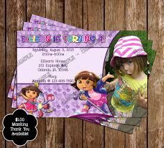 novel concept designs dora the explorer birthday invitations and