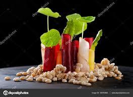 cuisine gastronomique cuisine apéritif dans un restaurant gastronomique