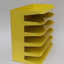 Desk Sorter Organizer Desk Office Organizer Mail Sorter Letter Holder Yellow Decor Inbox