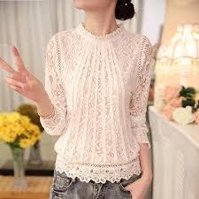 crochet blouses sleeve chiffon lace crochet blouse 50 creative item