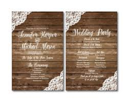 wedding programs rustic rustic wedding programs jar wedding programs wedding