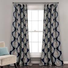 Navy Window Curtains Boheme Room Darkening Window Curtains
