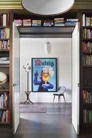 architecture beautiful bookcase design and white swing door also
