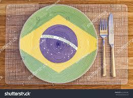 The Flag Of Brazil Dinner Plate Flag Brazil On Your Stock Photo 322403285 Shutterstock
