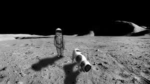 American Flag On The Moon Tiny Astronaut Walking A Dog Gets Viral Photoshop Battle Time