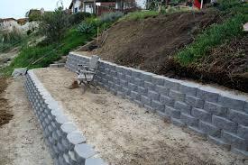 Garden Wall Retaining Blocks by Retaining Walls Thistledog U0027s Farm