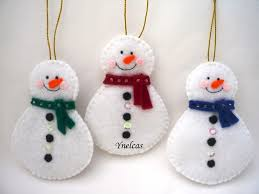 felt christmas ornaments snowman felt christmas ornament set luulla dma homes 39782
