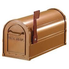 Wall Mount Locking Mailbox Home Depot Salsbury Industries 4800 Series Post Mount Antique Rural Mailbox