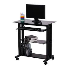 Small Portable Computer Desk Furniture Pc Desk Mobile Computer Workstation Cart Computer Desk