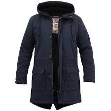 mens jacket tokyo laundry parka coat hooded sherpa lined heavy