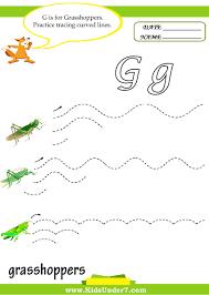 kids under 7 letter g worksheets