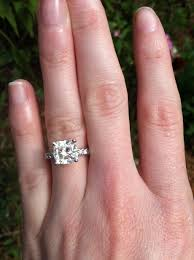 2 carat cushion cut engagement ring the simplicity anniversary eternity bands 2
