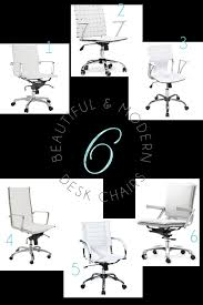 White Modern Desk Chair Pretty White Office Chairs A Roundup And My Quest To Find One