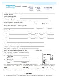 Letter Of Credit In Australia 40 free credit application form templates sles