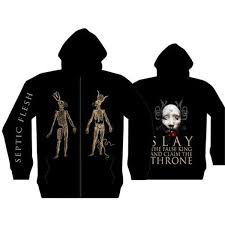 slay the false king hooded sweatshirt large only septicflesh