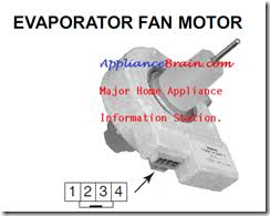 refrigerator evaporator fan replacement refrigerators appliance brain repair tips