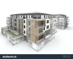 modern apartment building design illustration buildings