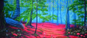 Forest Backdrop Enchanted Forest Backdrop Grosh