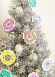 diy donut ornaments for a national donut day tree
