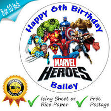 marvel cake toppers marvel superheroes birthday cake edible printed cake topper