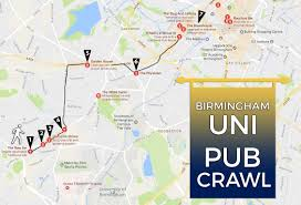 B15 Bus Route Map by A Students Guide To Birmingham