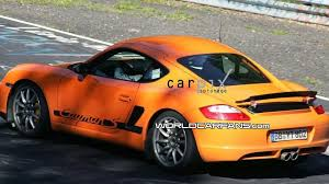 porsche cayman orange porsche cayman rs spied on the ring