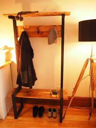 industrial coat rack bench hall tree 5 steps with pictures