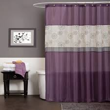 Purple Bathroom Curtains Covina Purple Shower Curtain Walmart