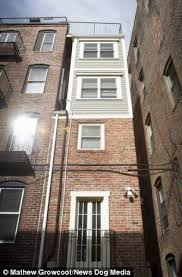 narrowest house in boston boston s skinniest house built out of spite and sibling rivalry