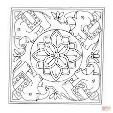 elephant mandala coloring page free printable coloring pages