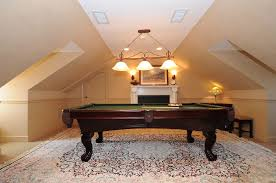 apartment attic billiard room with simple idea elegant pool table