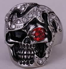 skull gothic rings images Big spider ring for men kids stainless steel 316l biker punk rock jpg
