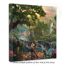 thomas kinkade halloween amazon com thomas kinkade jungle book gallery wrap canvas prints