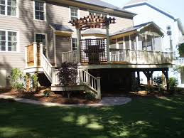 Multi Level Backyard Ideas Multi Level Deck Top Three Hot Tub Decks To Inspire Check Out How