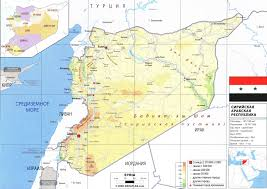 Map Of Syria by Syria