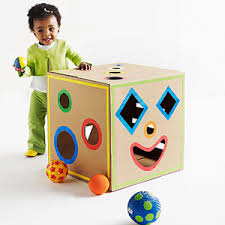 repurpose cardboard boxes into kid crafts toys cardboard boxes