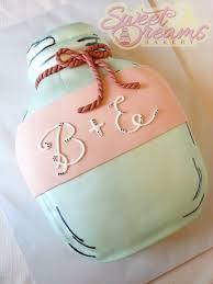 mason jar bridal shower cake from sweet dreams bakery tennessee