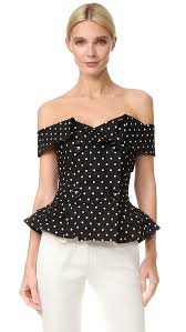 polkadot top monse polka dot top shopbop