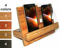 Personalized Desk Organizer by Nightstand Valet Wood Docking Station Men Phone Holder Wood