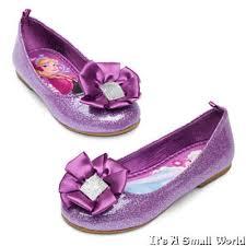 purple ribbons disney store frozen elsa flat shoes purple ribbon gems sz 10 12