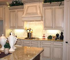 Distressed Kitchen Cabinets Distressed Antique White Kitchen Cabinets Smart Home Kitchen