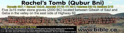 qubur bani megaliths location of rachel u0027s tomb fulfilled prophcy
