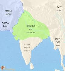 map world asia map of india and south asia at 500bc timemaps