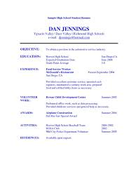 Best Resume Skills Examples by Sample Resume For High Students Without Work Experience